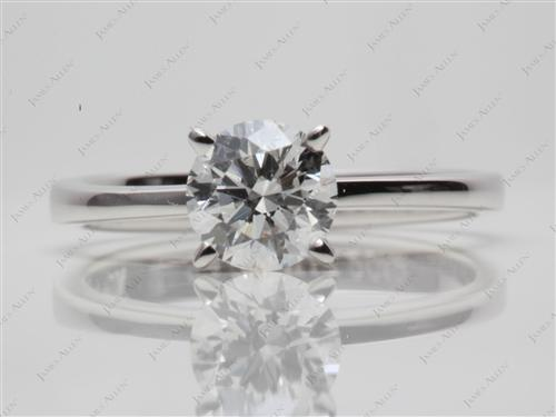 White Gold 1.02 Round cut Solitaire Engagement Ring