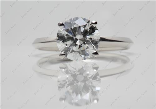 Platinum 1.03 Round cut Solitaire Ring Setting