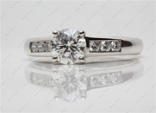 Platinum 1.01 Round cut Channel Setting Ring