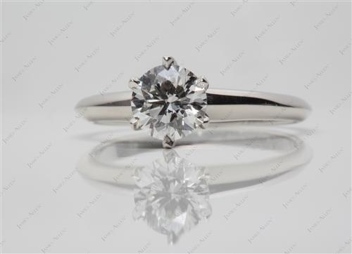 Platinum 0.83 Round cut Solitaire Ring Setting