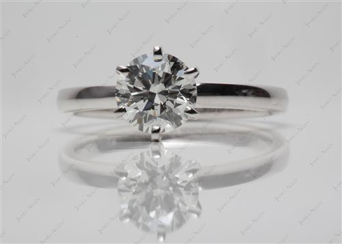 White Gold 1.10 Round cut Diamond Solitaire Ring Settings