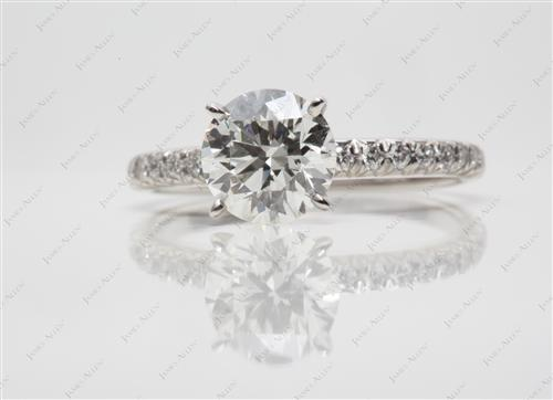 Platinum 1.24 Round cut Diamond Rings