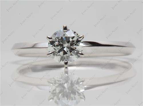 White Gold 0.64 Round cut Solitaire Ring Settings