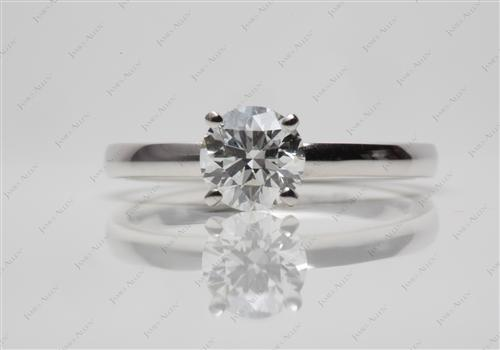 White Gold 0.77 Round cut Solitaire Engagement Ring