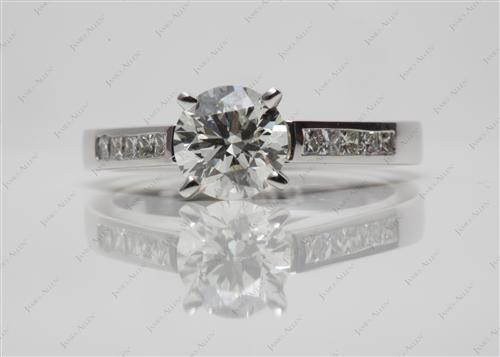 White Gold 1.00 Round cut Channel Set Diamond Engagement Rings