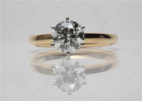 Gold 1.01 Round cut Solitaire Engagement Rings
