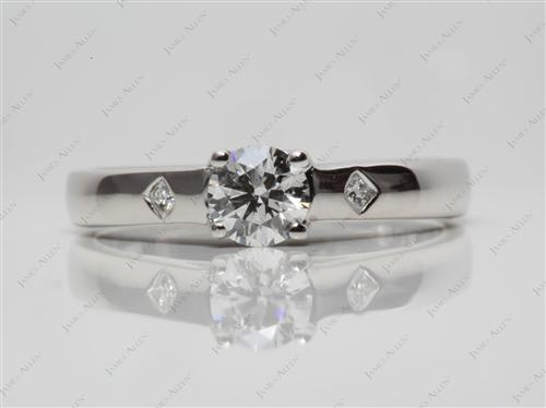 Platinum 0.45 Round cut Solitaire Ring Settings