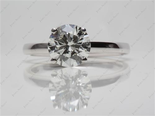 White Gold 1.55 Round cut Engagement Ring