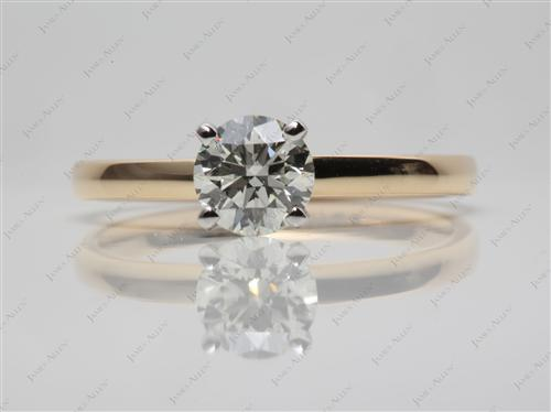 Gold 0.80 Round cut Diamond Rings