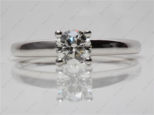 Platinum 0.76 Round cut Diamond Solitaire Engagement Ring