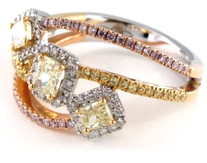 Tuscan Collection Designer Yellow Diamond Ring