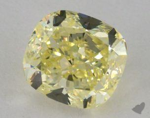 cushion2.83 Carat fancy yellowVS1