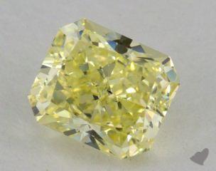 radiant1.73 Carat fancy yellowSI1