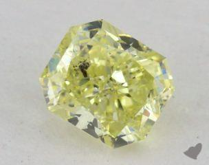 radiant1.10 Carat fancy intense yellowI1