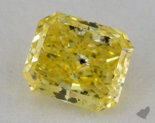 radiant1.04 Carat fancy intense yellowI1