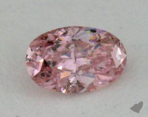 oval0.26 Carat fancy orangy pink