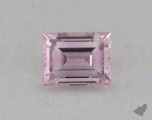 baguette0.19 Carat fancy purplish pink