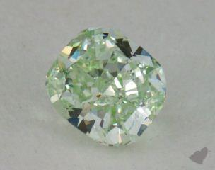 cushion0.63 Carat fancy greenVS2