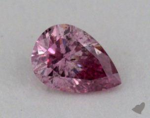 pear0.15 Carat fancy deep purplish pink