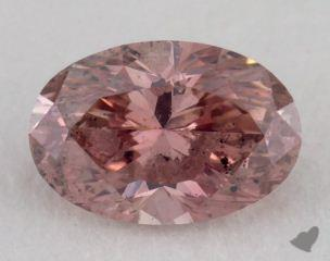 oval0.93 Carat fancy intense pink