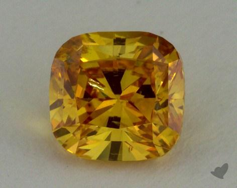 Carat FANCY VIVID YELLOW ORANGE Cushion Cut Diamond