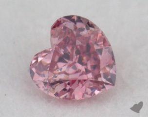 heart0.13 Carat fancy intense purplish pink