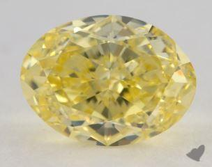 oval2.13 Carat fancy intense yellowVS2