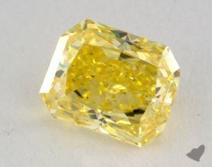 radiant0.81 Carat fancy vivid yellowSI1