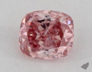 cushion0.36 Carat fancy intense purplish pinkSI1
