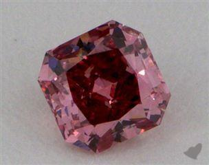 radiant0.25 Carat fancy deep pinkSI2
