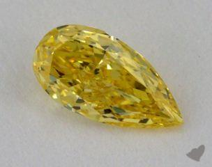 pear0.55 Carat fancy intense yellow SI1