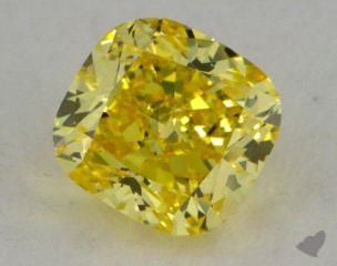 cushion1.02 Carat fancy vivid yellowVS1