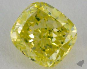 cushion0.72 Carat fancy greenish yellow