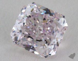 radiant0.72 Carat light pink