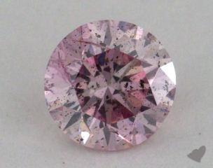round0.59 Carat fancy purple pink