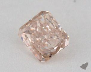 radiant0.30 Carat fancy brown pink