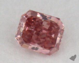 radiant0.19 Carat fancy intense pink