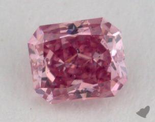 radiant0.30 Carat fancy vivid purplish pinkSI1