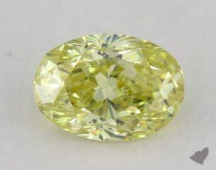 oval1.07 Carat  yellowVS1