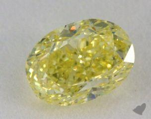 oval1.00 Carat fancy yellowSI1