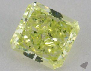 radiant0.42 Carat fancy greenish yellow