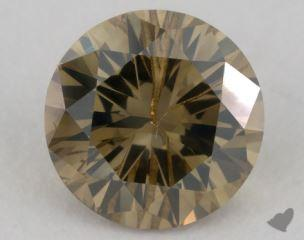 round1.07 Carat fancy deep brownish yellow