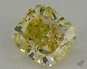 cushion0.66 Carat fancy greenish yellow
