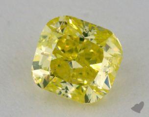 cushion0.98 Carat fancy intense greenish yellowSI1