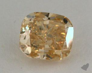 cushion1.05 Carat fancy brownish yellowVS2