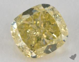 cushion0.53 Carat fancy greenish yellow