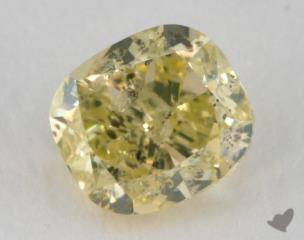 cushion0.43 Carat fancy greenish yellow