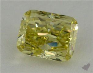 cushion2.60 Carat fancy greenish yellowVS2