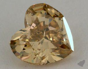 heart1.10 Carat fancy brownish yellow