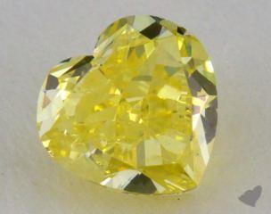 heart1.01 Carat fancy intense yellow